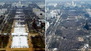 Amtseinführung T. vs Obama